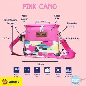 gabag cooler bag sling series pink camo