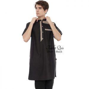 Baju koko kurta gamis warna hitam